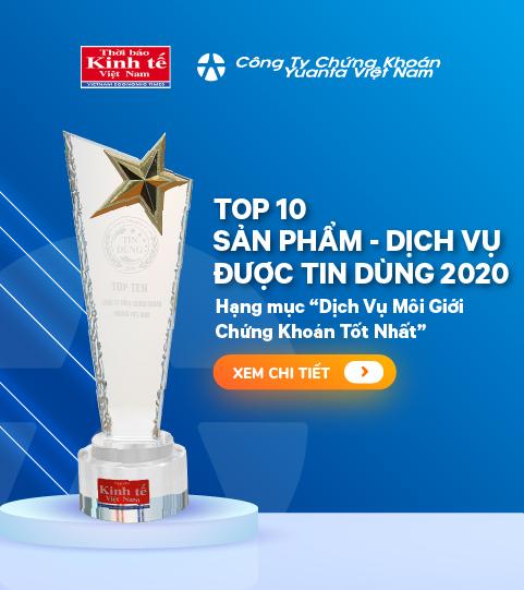 Yuanta Việt Nam vào Top 10 Sản Phẩm – Dịch Vụ Được Tin Dùng 2020